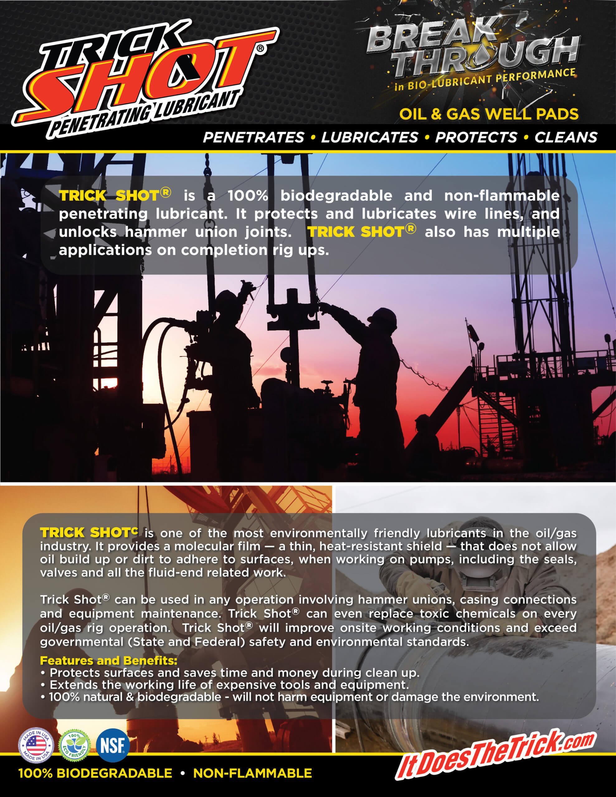 TrickShot Oil Gas front