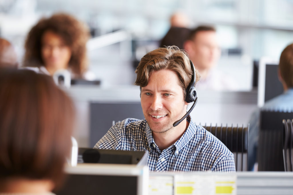 A person at Call Center